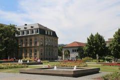 Ansicht des Gartenflügels des neuen Palastes von der Seite von Obere lizenzfreie stockfotografie