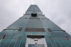 Ansicht des Gebäudes Taipehs 101 in Taipeh, Taiwan Stockfotos