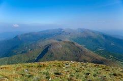 Ansicht des Gebirgszugs, Karpaten, Ukraine Lizenzfreie Stockfotos