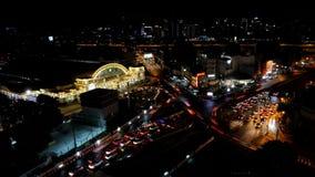 Ansicht des Geschäftsbereichs in Bangkok Geschossen auf Kennzeichen II Canons 5D mit Hauptl Linsen stock video footage