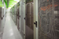 Ansicht des Gestell angebrachten Servers Stockfotografie