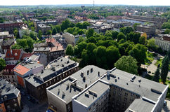 Ansicht des Gliwices in Polen Stockbild