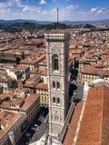 Ansicht des Glockenturms, Florenz, Italien Stockbilder