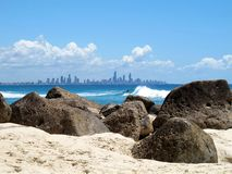 Ansicht des Gold Coast stockfotografie