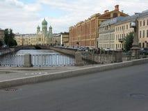 Ansicht des Griboyedov-Kanals, St Petersburg Lizenzfreies Stockfoto