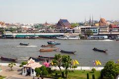 Ansicht des großartigen Palastes in Bangkok Stockfotos