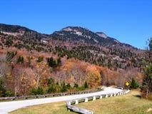 Ansicht des Großvaters Mt. von der blauen Ridge-Allee Stockfoto