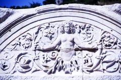 Ansicht des Hadrian-` s Tempels, alte Stadt Ephesus Lizenzfreie Stockfotografie