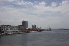 Ansicht des Hafengebiets der Stadt von Rio de Janeiro Stockfotografie
