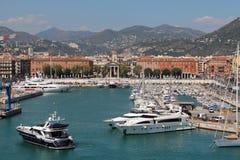 Ansicht des Hafens De Nice Stockfotografie
