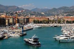 Ansicht des Hafens De Nice Stockfotos