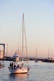 Ansicht des Hafens von Viareggio Versilia Italien Lizenzfreie Stockfotografie
