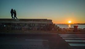 Ansicht des Handelshafens von Burriana lizenzfreie stockbilder
