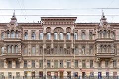"""Ansicht des Hauses von Kosikovsky auf Liteynyy-Aussicht Heiliges †""""Petersburg, Russland Lizenzfreie Stockfotos"""