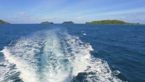 Ansicht des Heiligen Anne Marine National Park And Islands, Seychellen stock video