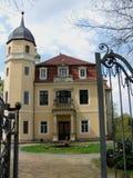 Ansicht des Hermsdorf Schlosses lizenzfreies stockfoto