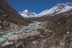 Ansicht des Himalajas (Awi-Spitze) von Pheriche Lizenzfreies Stockbild