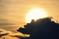 Ansicht des Himmels an der Dämmerung Lizenzfreie Stockbilder