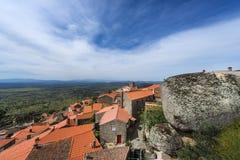 Ansicht des historischen Dorfs von Monsanto in Portugal Stockfoto