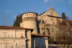 Ansicht des historischen Schlosses von der Stadt von Brescia - Brescia - Stockfotografie