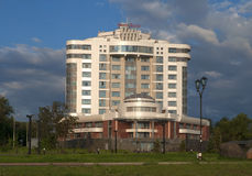 Ansicht des Hotels Stockfotos