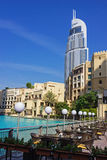 Ansicht des Hotels die Adresse im Dubai-Mall Stockfotos