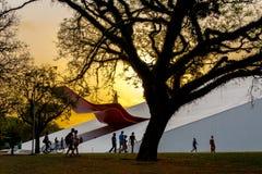 Ansicht des Ibirapuera-Auditoriums stockbilder