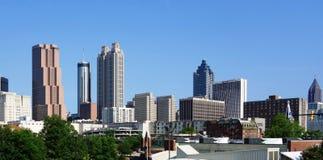Ansicht des im Stadtzentrum gelegenen Atlantas, USA Skyline stockfotografie