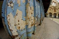 Ansicht des Innenraums des alten Swimmingpools in Victoria Baths Manc Lizenzfreie Stockbilder