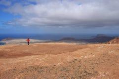 Ansicht des Insel La Graciosa Lanzarote, Kanarische Inseln stockfotografie