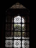 Ansicht des islamischen Rahmens an der Moschee stockbild