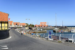 Ansicht des Jachthafens Stockbild