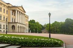 Ansicht des königlichen Palastes in die Stadt von Oslo stockfoto