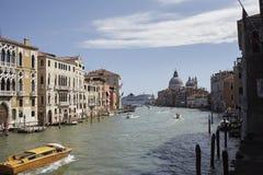 Ansicht des Kanals groß von Accademia-Brücke Lizenzfreies Stockfoto