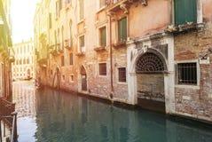 Ansicht des Kanals in Venedig, Italien Venedig ist ein populärer touristischer Bestimmungsort von Europa Lizenzfreie Stockfotografie