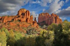 Ansicht des Kathedralen-Felsens Sedona Arizona Stockbild