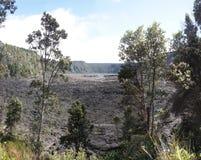 Ansicht des Kilauea iki Kraterbodens lizenzfreie stockfotos