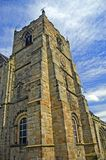 Ansicht des Kirchturms Stockfotos