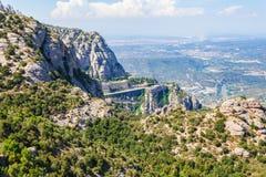 Ansicht des Klosters von Montserrat in Katalonien, nahe Barcelona Lizenzfreies Stockbild