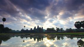 Ansicht des Komplexes Angkor Wat Buddhist in Kambodscha Andreev stock video footage