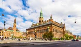 Ansicht des Kopenhagen-Rathauses lizenzfreies stockfoto