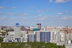 Ansicht des Kremls und des Moskau-Flusses Stockbild
