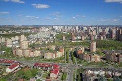 Ansicht des Kremls und des Moskau-Flusses Stockbilder