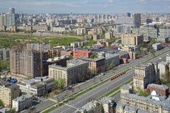 Ansicht des Kremls und des Moskau-Flusses Stockfotos