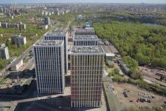 Ansicht des Kremls und des Moskau-Flusses Lizenzfreies Stockbild