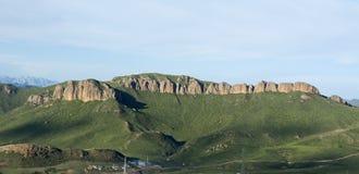 Ansicht des Langmusi-Rot-Steins Stockfoto