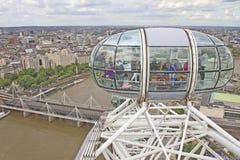 Ansicht des London-Auges Lizenzfreie Stockfotografie