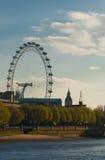 Ansicht des London-Auges Stockfoto