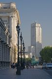 Ansicht des Madrid-Kontrollturms Stockfotografie