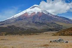 Ansicht des majestätischen Cotopaxi-Vulkans Lizenzfreie Stockfotos